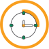 Icon of 15-minute clock